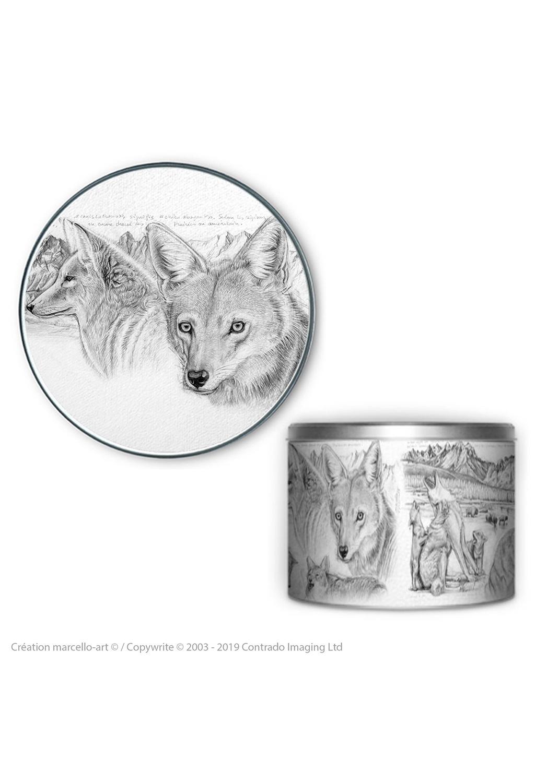 Marcello-art: Decoration accessoiries Round biscuit box 391 coyote