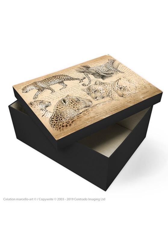 Marcello-art: Decoration accessoiries Souvenir box 180 leopard