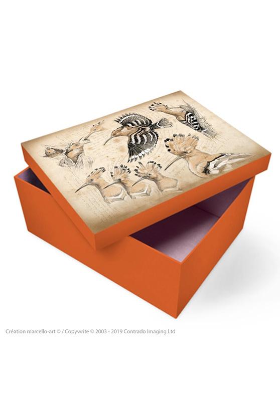 Marcello-art: Decoration accessoiries Souvenir box 182 hoopoe