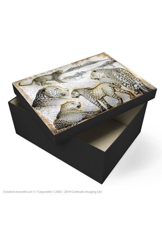 Marcello-art: Decoration accessoiries Souvenir box 252 leopard