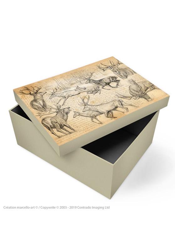Marcello-art: Decoration accessoiries Souvenir box 271 red deer