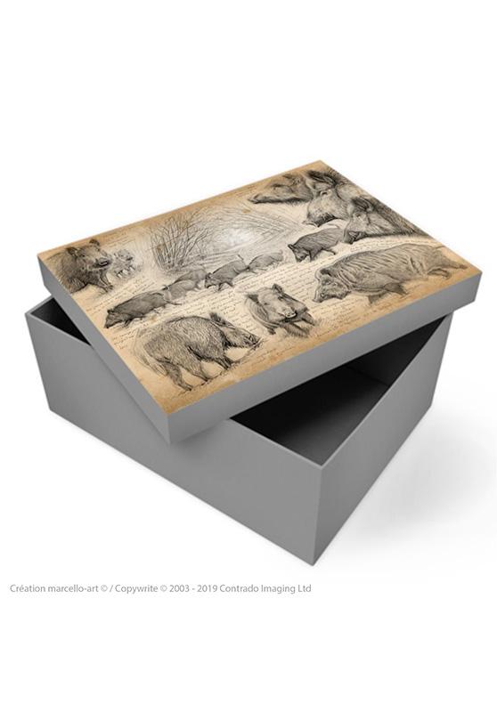 Marcello-art: Decoration accessoiries Souvenir box 272 boar