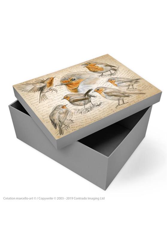 Marcello-art: Decoration accessoiries Souvenir box 282 robin