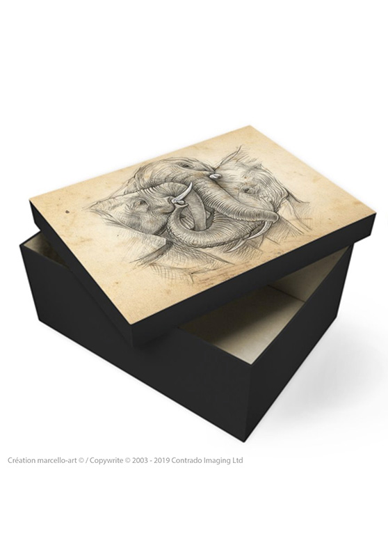 Marcello-art: Decoration accessoiries Souvenir box 286 game trunk