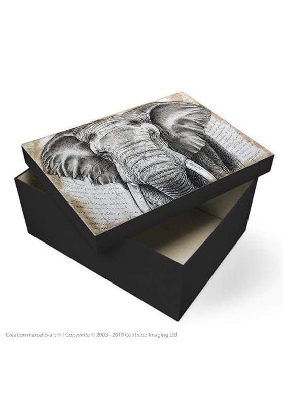 Marcello-art: Decoration accessoiries Souvenir box 299 Tusker