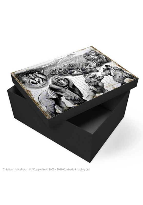 Marcello-art: Decoration accessoiries Souvenir box 301 Virunga gorilla