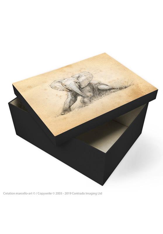 Marcello-art: Decoration accessoiries Souvenir box 324 baby elephant