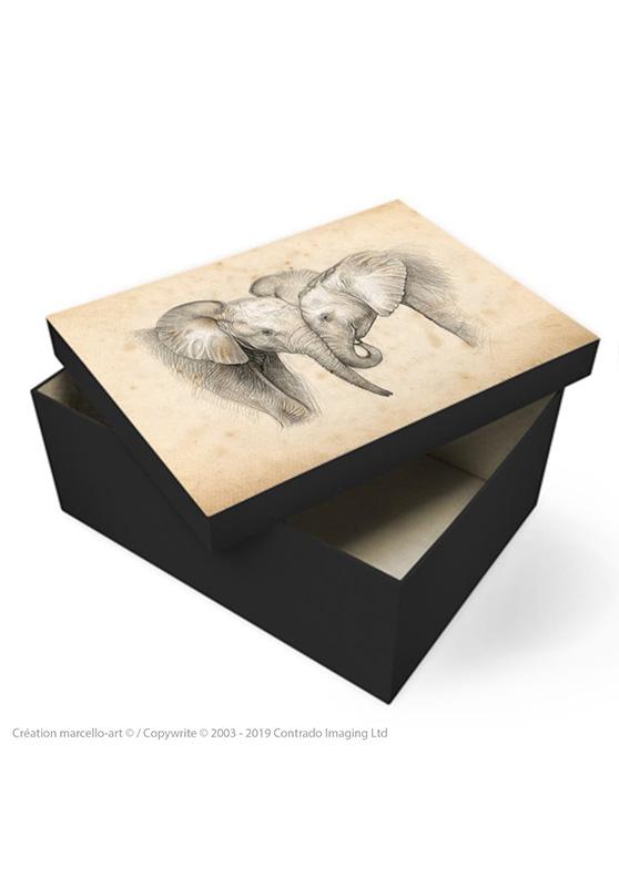 Marcello-art: Decoration accessoiries Souvenir box 325 baby elephant