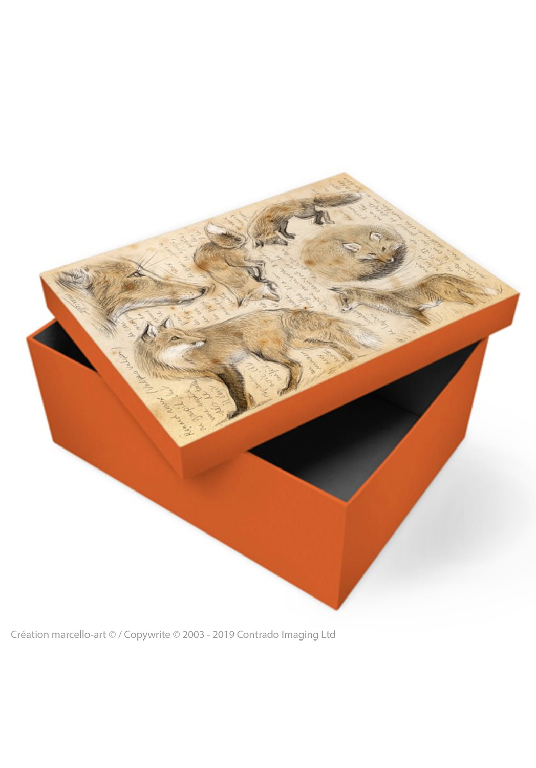 Marcello-art: Decoration accessoiries Souvenir box 336 red fox
