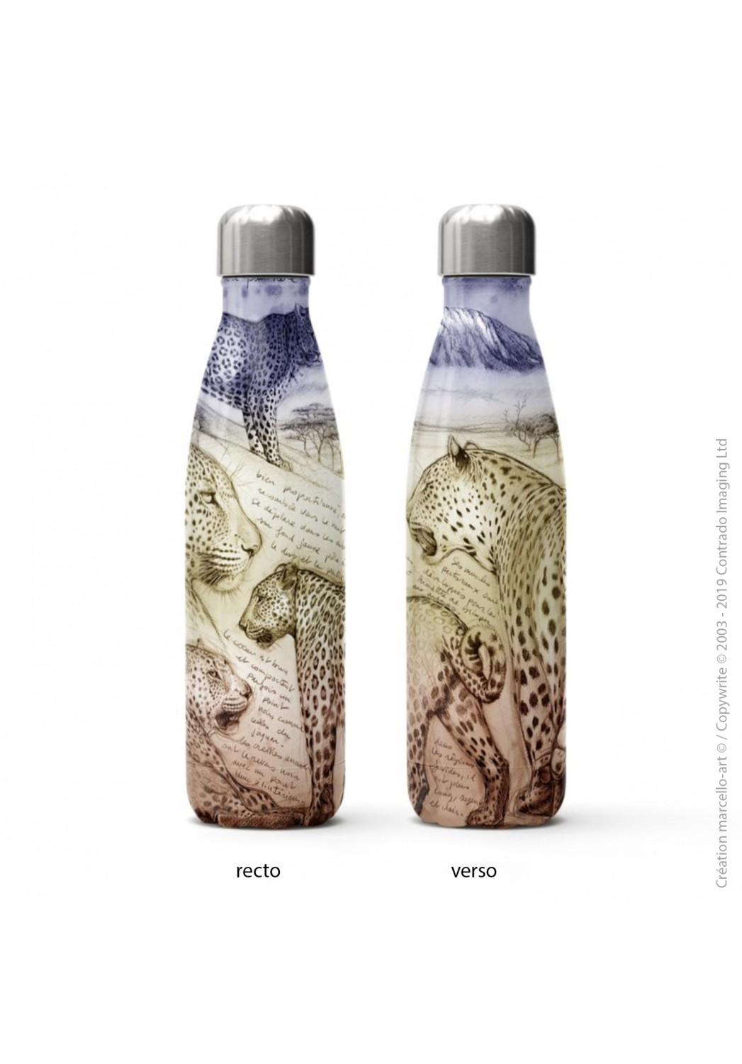 Marcello-art: Decoration accessoiries Isothermal bottle 252 leopard sunset