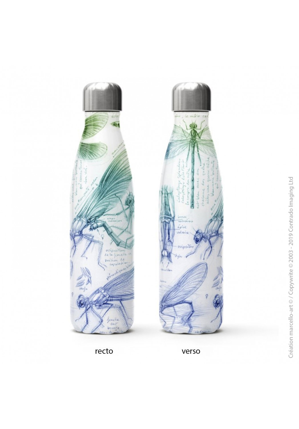Marcello-art: Decoration accessoiries Isothermal bottle 255 calopteryx