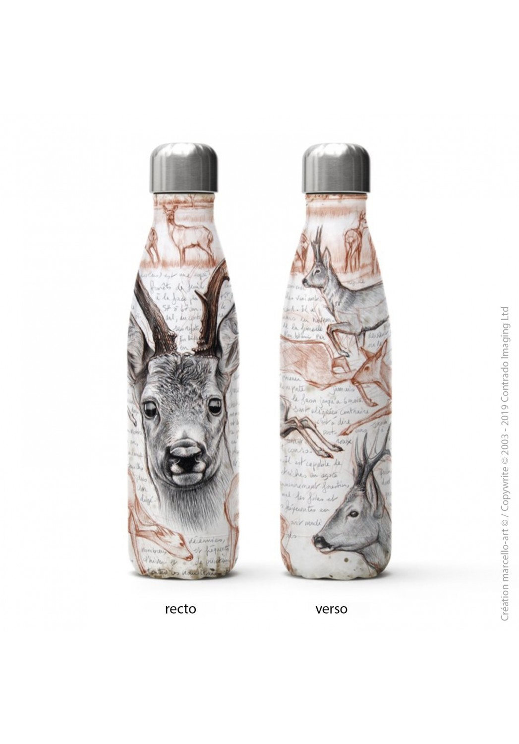 Marcello-art: Decoration accessoiries Isothermal bottle 280 roe deer