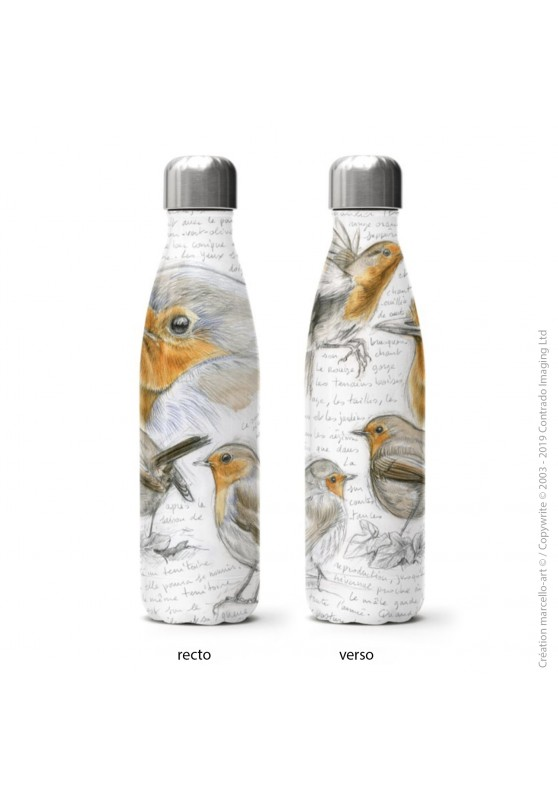 Marcello-art: Decoration accessoiries Isothermal bottle 282 robin