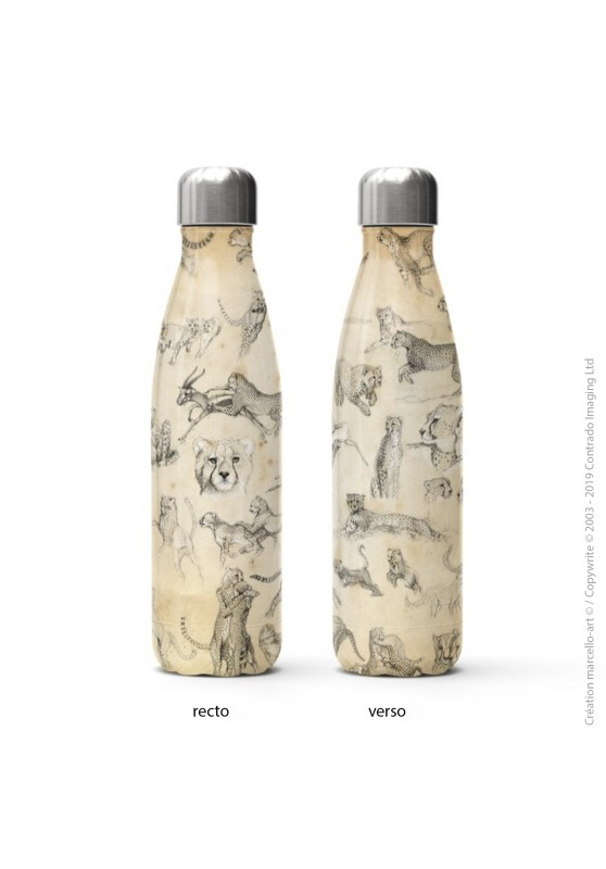 Marcello-art: Decoration accessoiries Isothermal bottle 320 Cheetah For Ever