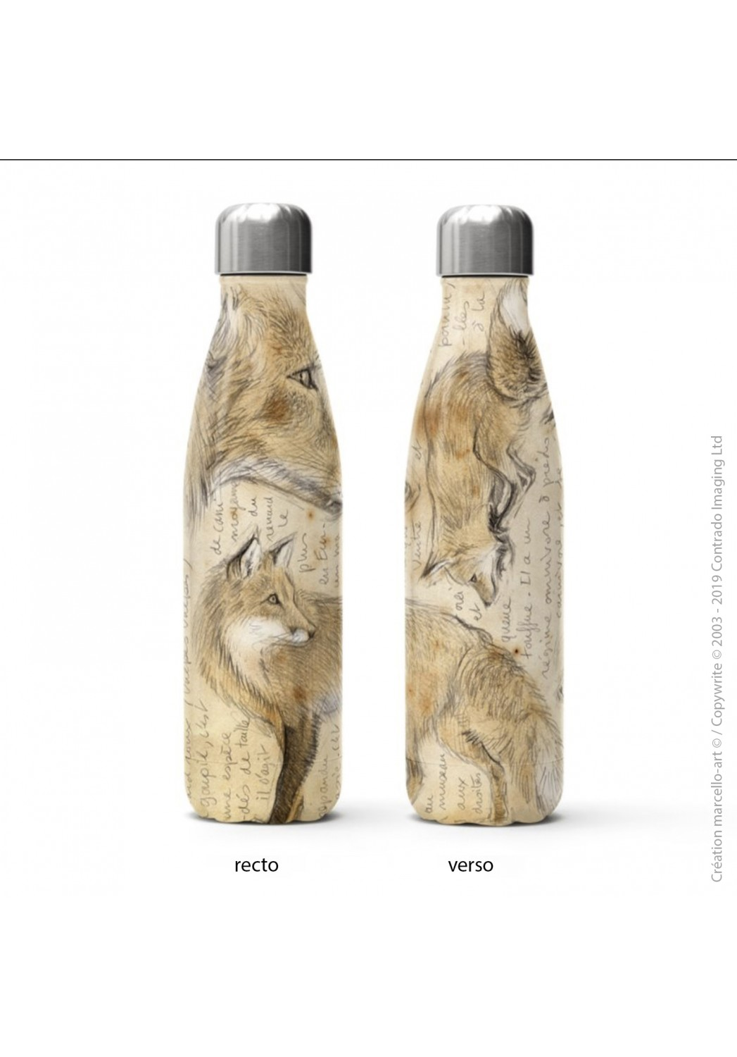 Marcello-art: Decoration accessoiries Isothermal bottle 336 red fox