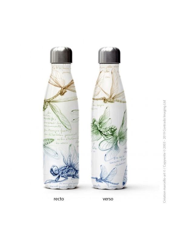 Marcello-art : Accessoires de décoration Bouteille isotherme 368 libellula depressa