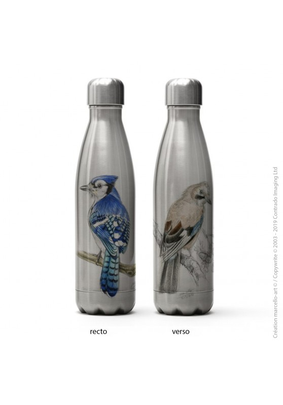 Marcello-art: Decoration accessoiries Isothermal bottle inox 273-393 blue jay & jay