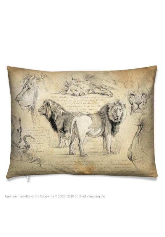 Marcello-art : Accessoires de mode Coussin 54 frères lions