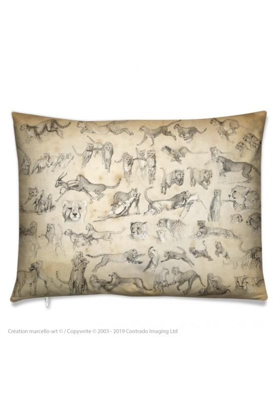 Marcello-art: Fashion accessory Cushion 320 Cheetah For Ever