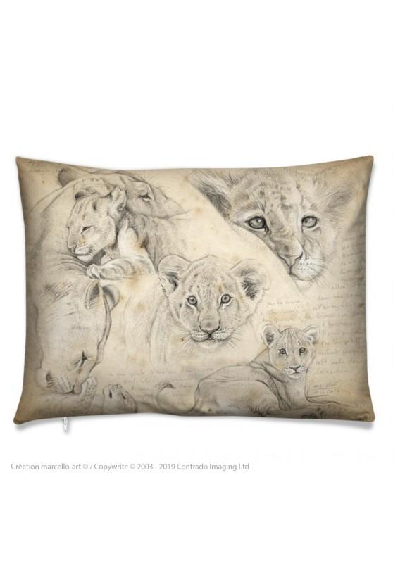 Marcello-art : Accessoires de mode Coussin 330 lionceaux