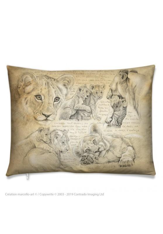 Marcello-art: Fashion accessory Cushion 331 lion cubs