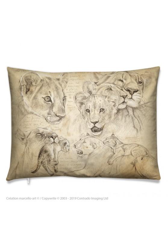 Marcello-art : Accessoires de mode Coussin 335 lionceaux