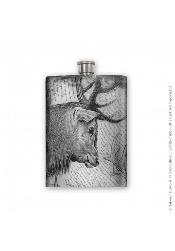 Marcello-art: Decoration accessoiries Flask 278 red deer