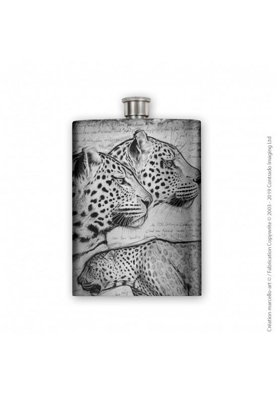 Marcello-art : Accessoires de décoration Flasque 296 léopard