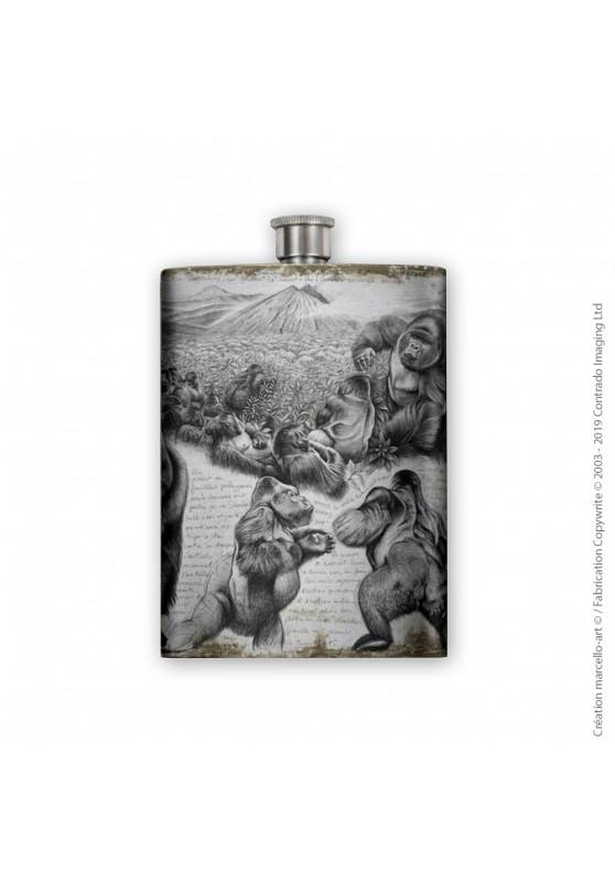 Marcello-art : Accessoires de décoration Flasque 301 gorilles Virunga