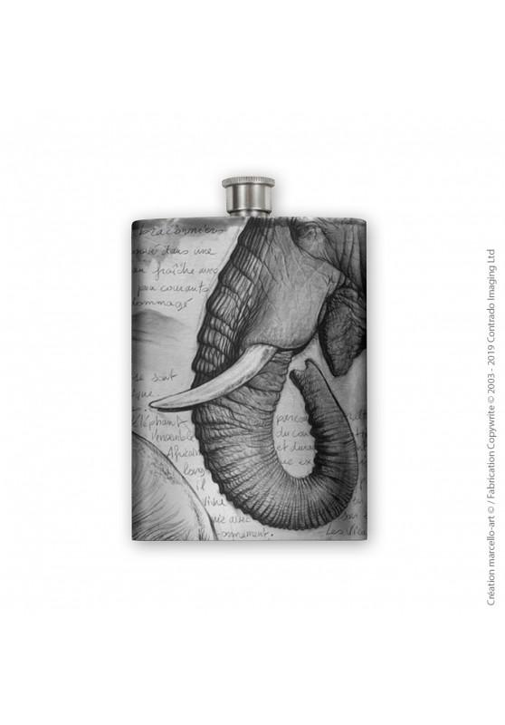 Marcello-art : Accessoires de décoration Flasque 303 trompe Satao