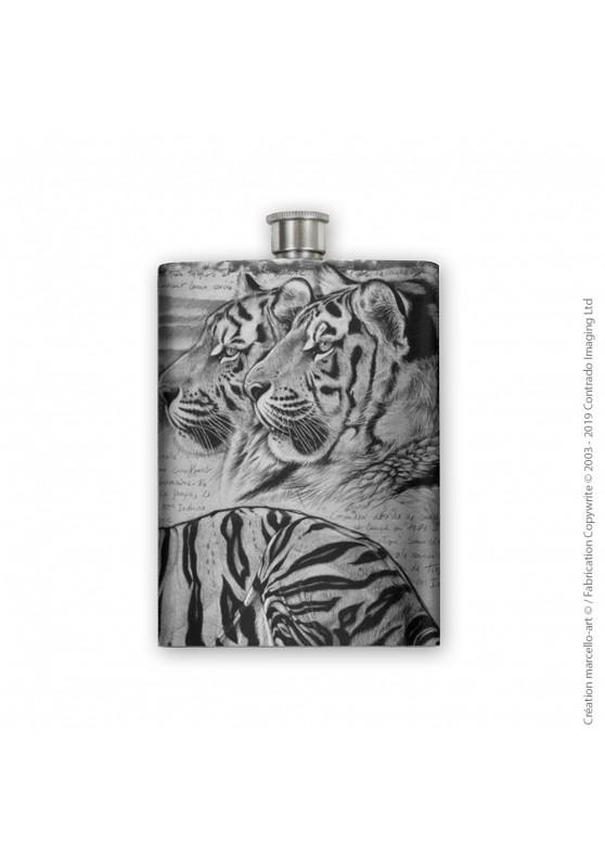 Marcello-art : Accessoires de décoration Flasque 304 tête tigres