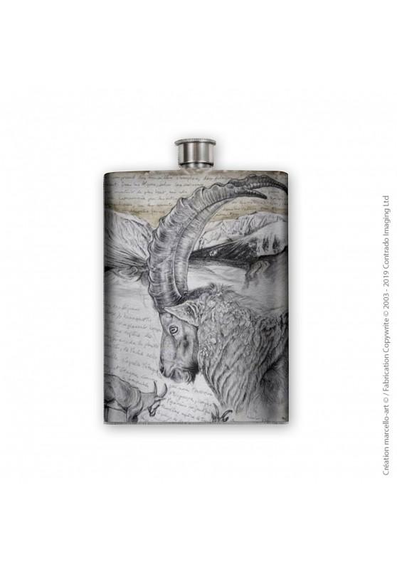 Marcello-art: Decoration accessoiries Flask 348 Alpine Ibex
