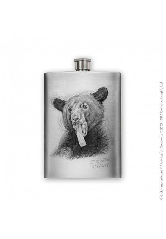 Marcello-art : Accessoires de décoration Flasque 382 langue ours noir