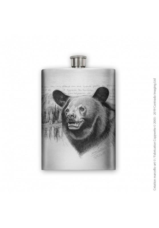 Marcello-art : Accessoires de décoration Flasque 382 tête ours noir