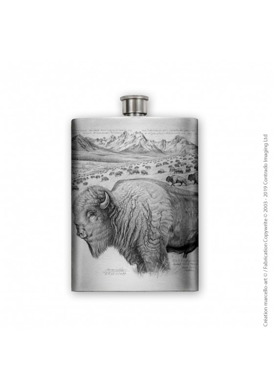 Marcello-art: Decoration accessoiries Flask 390 American buffalo