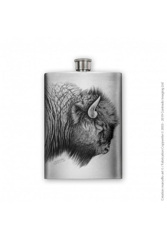 Marcello-art : Accessoires de décoration Flasque 390 tête bison