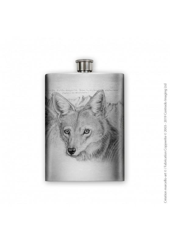 Marcello-art : Accessoires de décoration Flasque 391 tête coyote