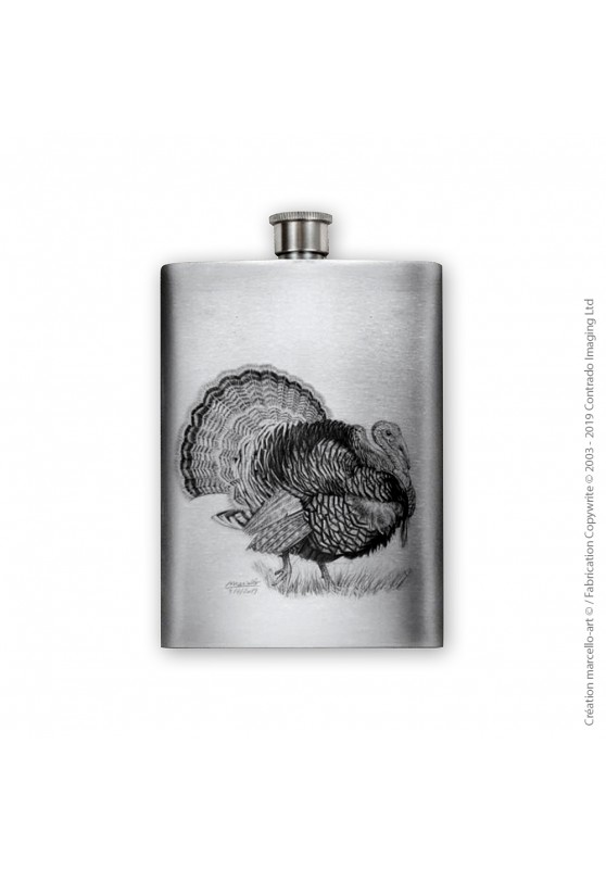 Marcello-art : Accessoires de décoration Flasque 393 dindon