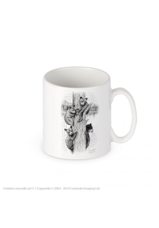 Marcello-art: Decoration accessoiries Porcelain mug 382 little bears