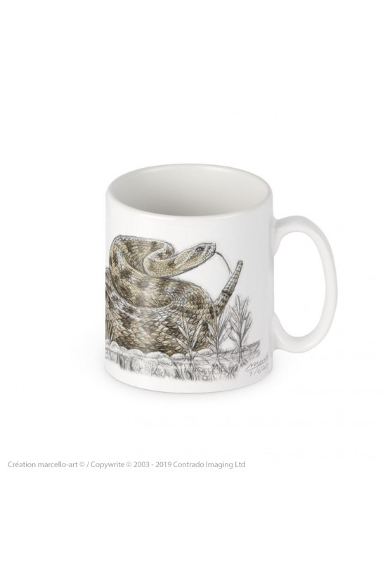 Marcello-art: Decoration accessoiries Porcelain mug 393 rattlesnake