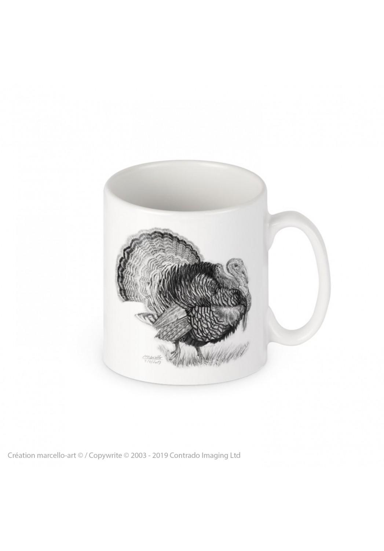 Marcello-art : Accessoires de décoration Mug porcelaine 393 dindon