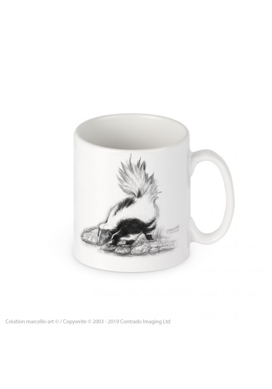 Marcello-art: Decoration accessoiries Porcelain mug 393 skunk
