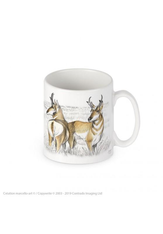Marcello-art : Accessoires de décoration Mug porcelaine 393 pronghorn