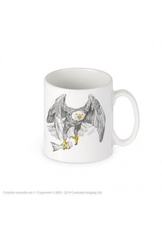 Marcello-art: Decoration accessoiries Porcelain mug 393 bald eagle