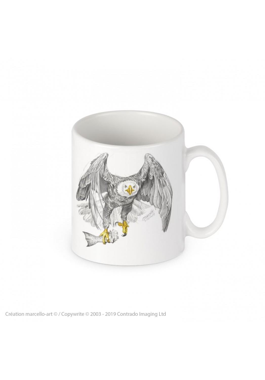Marcello-art : Accessoires de décoration Mug porcelaine 393 pygargue