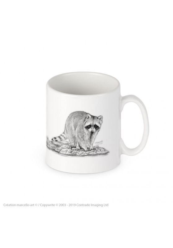 Marcello-art: Decoration accessoiries Porcelain mug 393 raccoon