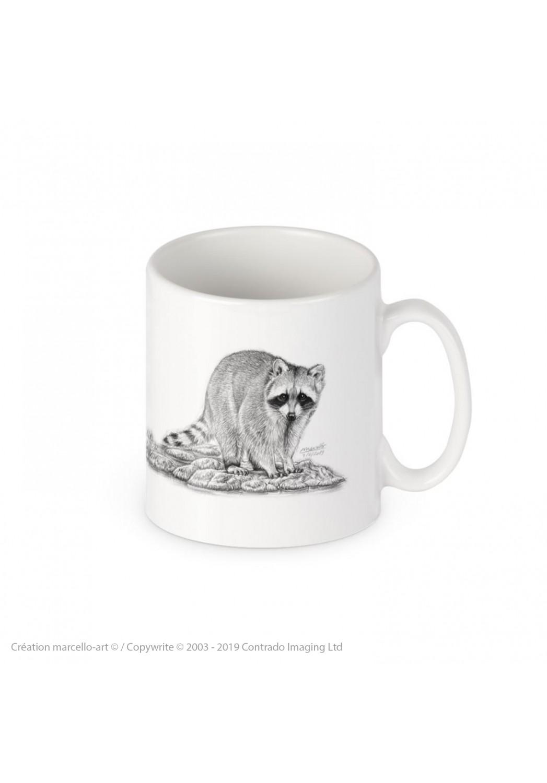 Marcello-art : Accessoires de décoration Mug porcelaine 393 raton laveur