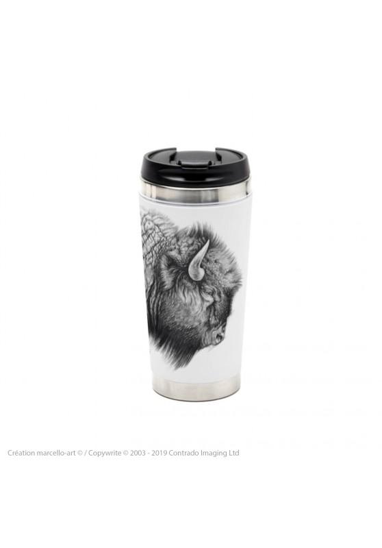 Marcello-art : Accessoires de décoration Mug thermos 390 tête bison