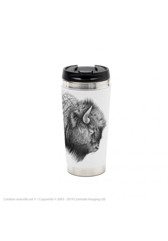 Marcello-art: Decoration accessoiries Thermos mug 390 American buffalo head