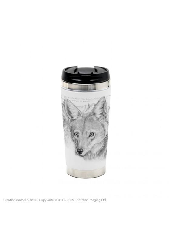 Marcello-art : Accessoires de décoration Mug thermos 391 coyote